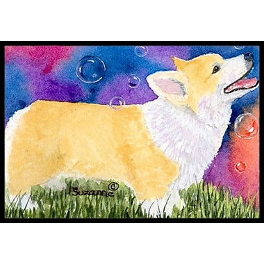 Caroline's Treasures Corgi Doormat; Rectangle 2' x 3'