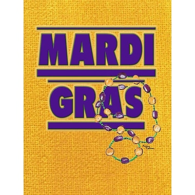 Caroline's Treasures Mardi Gras House Vertical Flag