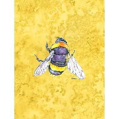 Caroline's Treasures Bee on Yellow 2-Sided Garden Flag