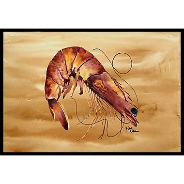 Caroline's Treasures Shrimp Doormat; Rectangle 2' x 3'
