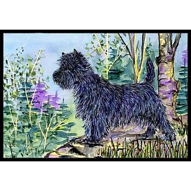 Caroline's Treasures Cairn Terrier Doormat; Rectangle 2' x 3'