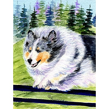 Caroline's Treasures Sheltie House Vertical Flag