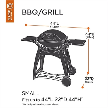 Classic Accessories Hickory Heavy-Duty BBQ Grill Cover; Small