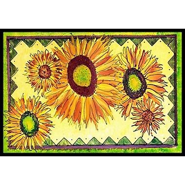 Caroline's Treasures Sunflower Doormat; Rectangle 2' x 3'