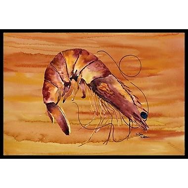 Caroline's Treasures Shrimp Doormat; Rectangle 2' x 3'