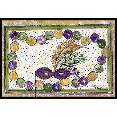 Caroline's Treasures Mardi Gras Beads Doormat; Rectangle 2' x 3'