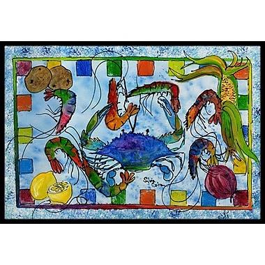 Caroline's Treasures Crab Doormat; Rectangle 2' x 3'