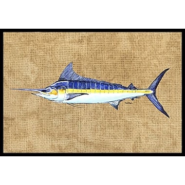 Caroline's Treasures Marlin Doormat; Rectangle 2' x 3'