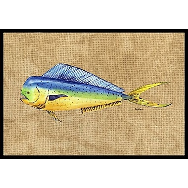 Caroline's Treasures Dolphin Mahi Mahi Doormat; Rectangle 2' x 3'