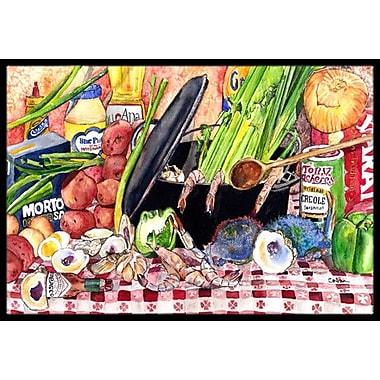 Caroline's Treasures Gumbo and Potato Salad Doormat; Rectangle 1'6'' x 2' 3''