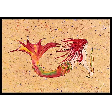 Caroline's Treasures Mermaid Doormat; Rectangle 2' x 3'