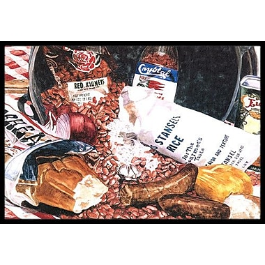 Caroline's Treasures Beans and Rice Doormat; Rectangle 2' x 3'