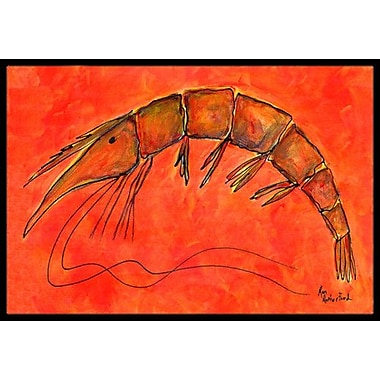 Caroline's Treasures Shrimp Doormat; Rectangle 1'6'' x 2' 3''