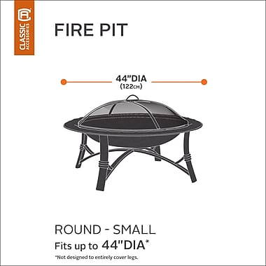 Classic Accessories Hickory Heavy-Duty Fire Pit Cover; Small
