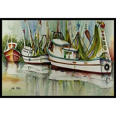 Caroline's Treasures Ocean Springs Shrimper Doormat; Rectangle 2' x 3'
