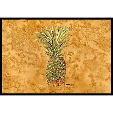 Caroline's Treasures Pineapple Doormat; 1'6'' x 2' 3''