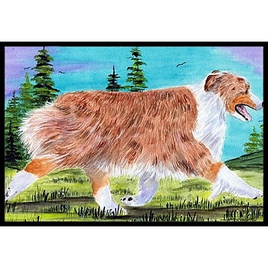 Caroline's Treasures Australian Shepherd Doormat; Rectangle 1'6'' x 2' 3''