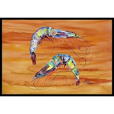 Caroline's Treasures Shrimp Doormat; Rectangle 1'6'' x 2' 3''