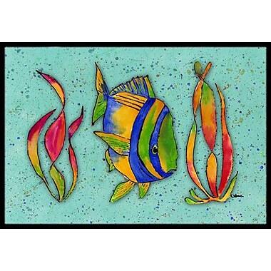 Caroline's Treasures Tropical Fish Doormat; Rectangle 1'6'' x 2' 3''