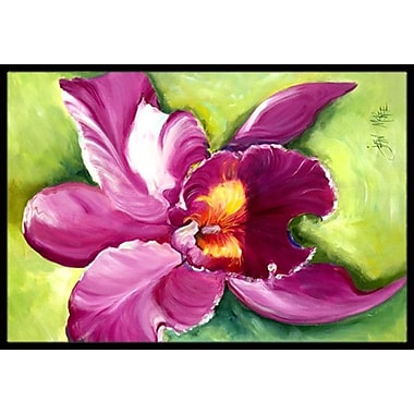 Caroline's Treasures Orchid Doormat; Rectangle 2' x 3'