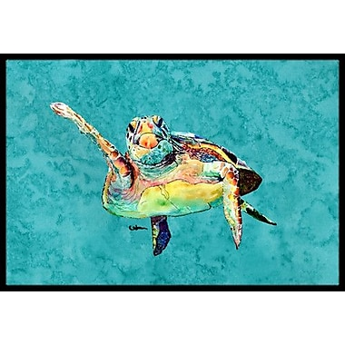 Caroline's Treasures Turtle Doormat; Rectangle 2' x 3'