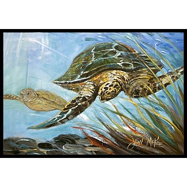 Caroline's Treasures Loggerhead Sea Turtle Doormat; Rectangle 1'6'' x 2' 3''