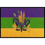 Caroline's Treasures Mardi Gras Mask Doormat; Rectangle 2' x 3'