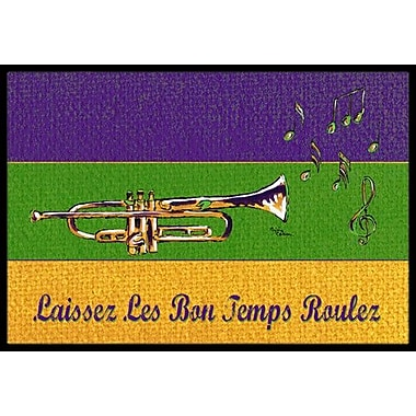 Caroline's Treasures Mardi Gras Doormat; Rectangle 1'6'' x 2' 3''
