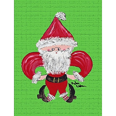Caroline's Treasures Christmas Santa Fleur-de-lis House Flag