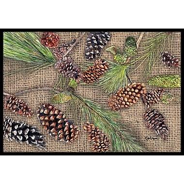 Caroline's Treasures Pine Cones Doormat; Rectangle 1'6'' x 2' 3''