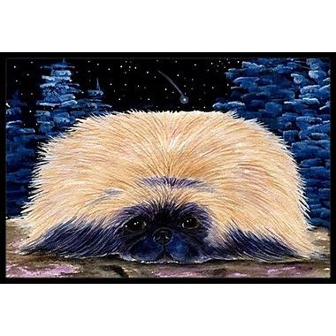 Caroline's Treasures Starry Night Pekingese Doormat; Rectangle 2' x 3'