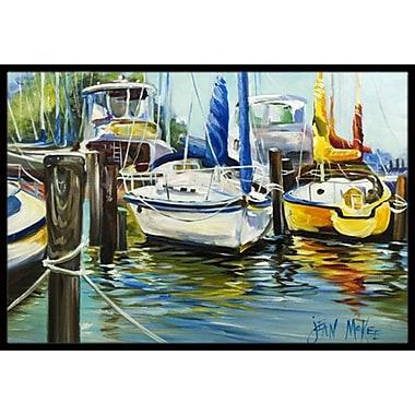 Caroline's Treasures Boat Sailboat Doormat; Rectangle 2' x 3'