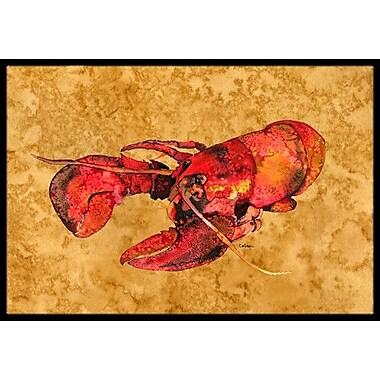 Caroline's Treasures Lobster Doormat; Rectangle 1'6'' x 2' 3''