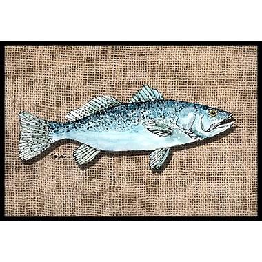 Caroline's Treasures Fish Speckled Trout Doormat; Rectangle 2' x 3'