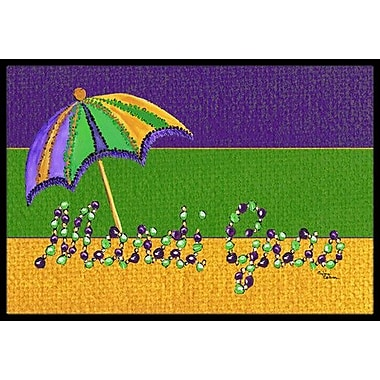 Caroline's Treasures Mardi Gras Doormat; Rectangle 2' x 3'