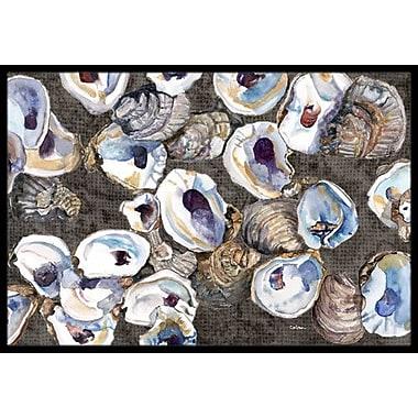 Caroline's Treasures Oysters Doormat; Rectangle 1'6'' x 2' 3''