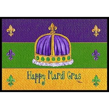 Caroline's Treasures Mardi Gras Doormat; Rectangle 1'6'' x 2' 3''