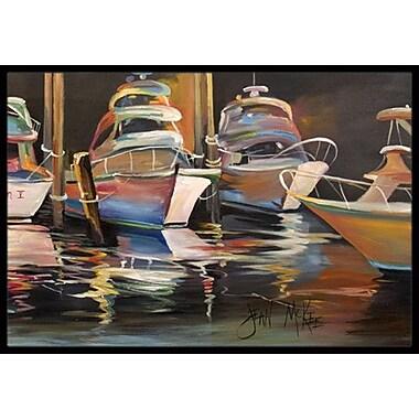 Caroline's Treasures Chase Deep Sea Fishing Boats Doormat; Rectangle 2' x 3'