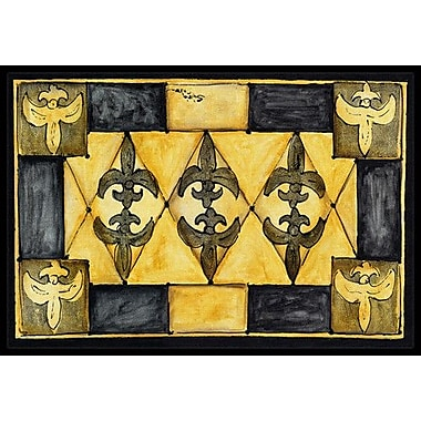 Caroline's Treasures Fleur De Lis Doormat; Rectangle 1'6'' x 2' 3''