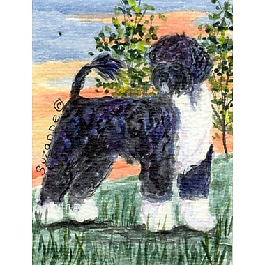 Caroline's Treasures Portuguese Water Dog House Vertical Flag