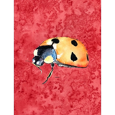 Caroline's Treasures Lady Bug on Red House Vertical Flag