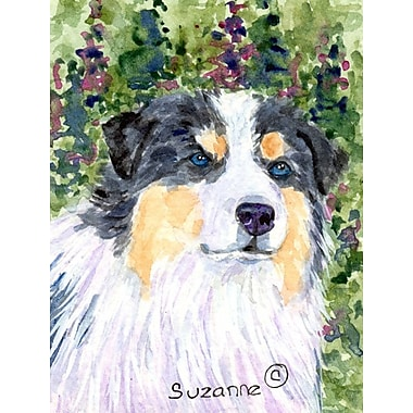 Caroline's Treasures Australian Shepherd House Vertical Flag