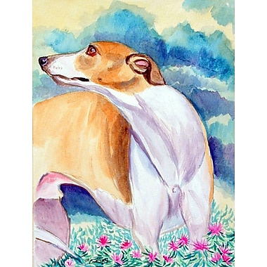 Caroline's Treasures Whippet House Vertical Flag