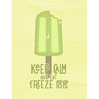 Caroline's Treasures Keep Calm and Eat Freeze Pops Popsicle 2-Sided Garden Flag