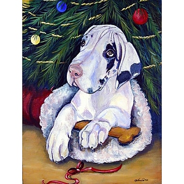 Caroline's Treasures Christmas Tree w/ Great Dane 2-Sided Garden Flag