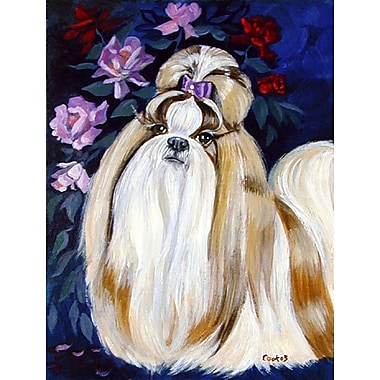 Caroline's Treasures Shih Tzu 2-Sided Garden Flag