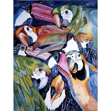 Caroline's Treasures Parrots 2-Sided Garden Flag