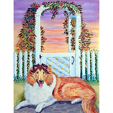 Caroline's Treasures Collie 2-Sided Garden Flag