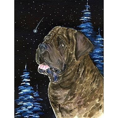 Caroline's Treasures Starry Night Mastiff 2-Sided Garden Flag