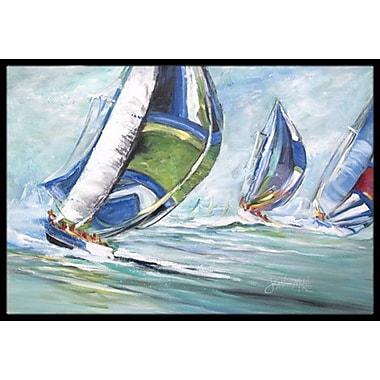 Caroline's Treasures Boat Race Doormat; Rectangle 1'6'' x 2' 3''
